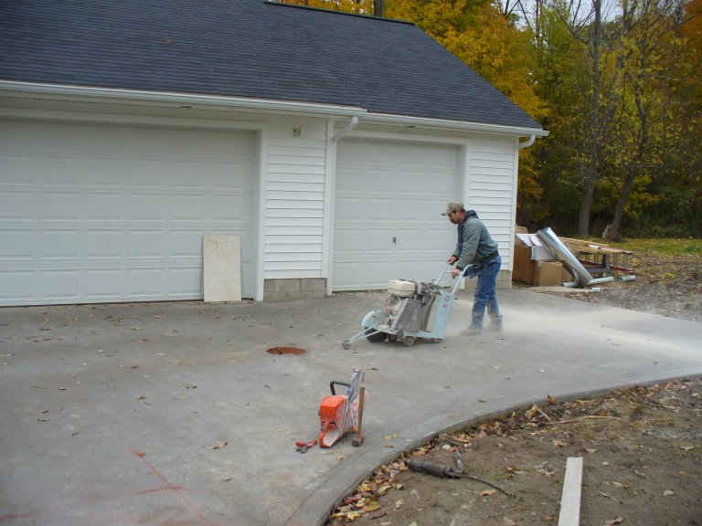 2006 House Addition Cut Driveway Install Gravel Apron